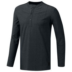 Adidas® adiCross Transition Henley Shirt (Carbon Heather)