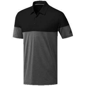 Adidas® Ultimate365 Heather Blocked Polo (Gray Five Heather/Black)