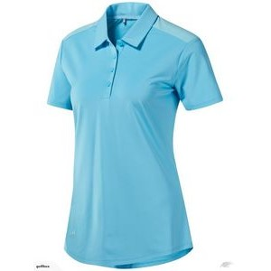 Adidas® Women's Ultimate365 Heather Polo (Bright Cyan)