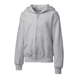 Clique Basics Youth Flc Full Zip Hoodie